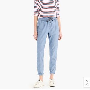 J. Crew Seaside Chambray Jogger Pant